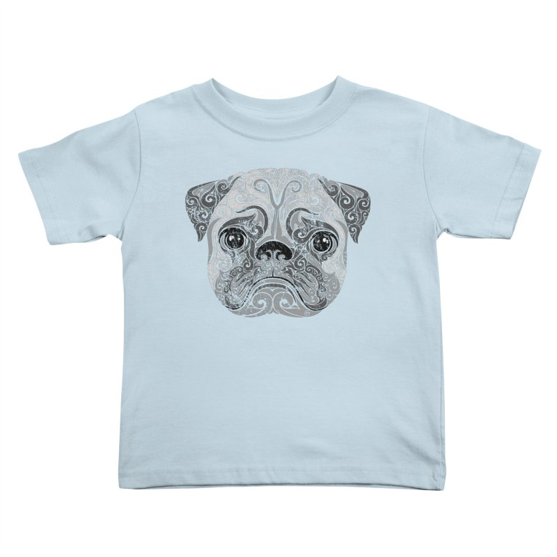 Swirly Pug Kids Toddler T-Shirt by VectorInk's Artist Shop