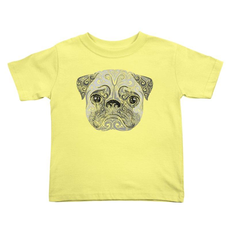 Swirly Pug Kids Toddler T-Shirt by VectorInk's Artist Shop