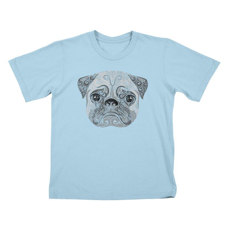 Swirly Pug Kids T-Shirt by VectorInk's Artist Shop
