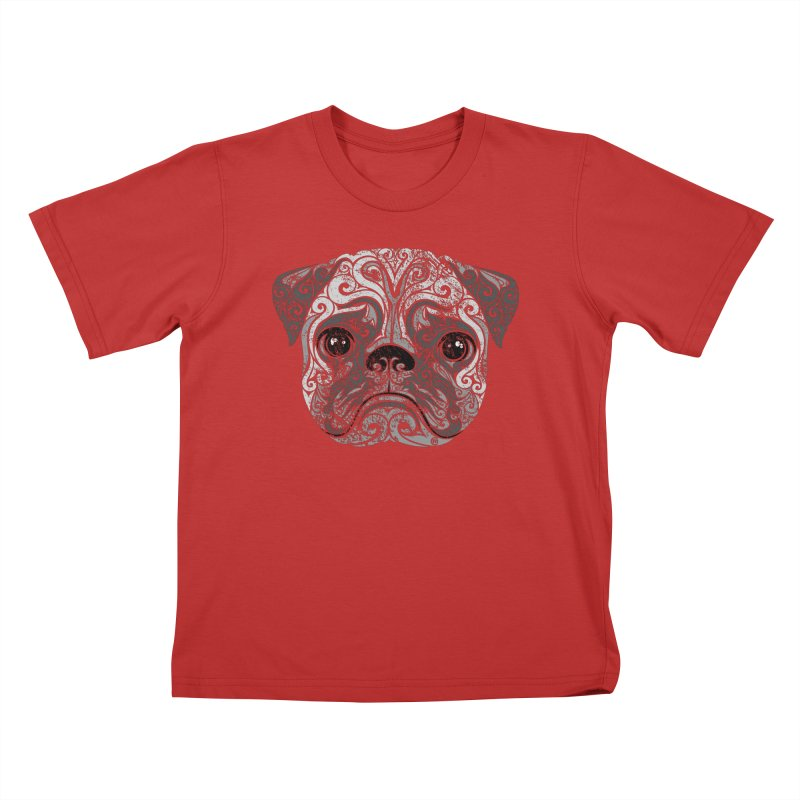 Swirly Pug Kids T-shirt by VectorInk's Artist Shop