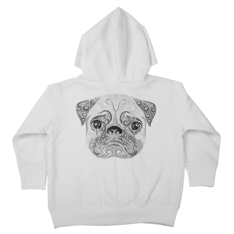 Swirly Pug Kids Toddler Zip-Up Hoody by VectorInk's Artist Shop