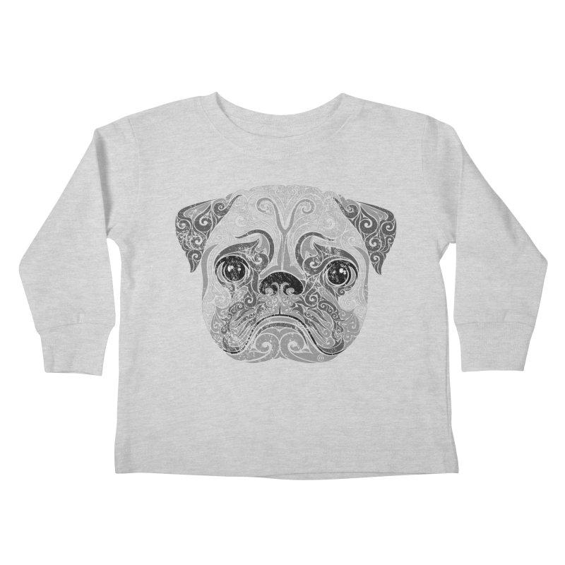 Swirly Pug Kids Toddler Longsleeve T-Shirt by VectorInk's Artist Shop
