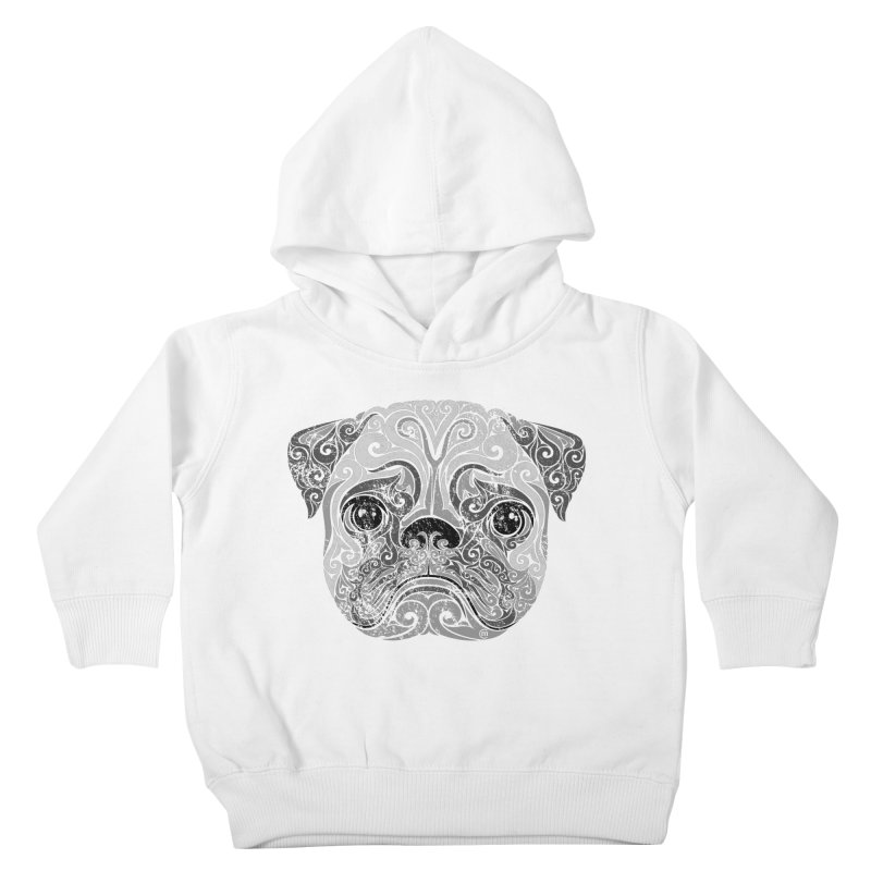 Swirly Pug Kids Toddler Pullover Hoody by VectorInk's Artist Shop