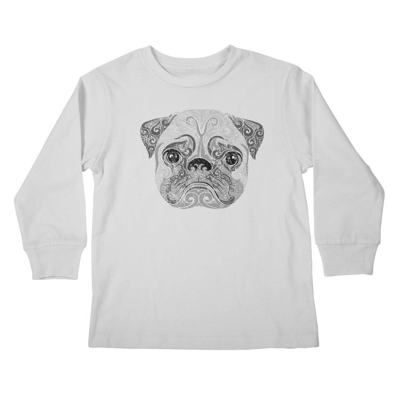 Swirly Pug Kids Longsleeve T-Shirt by VectorInk's Artist Shop