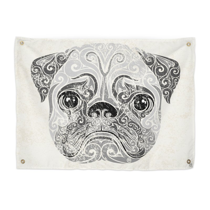 Swirly Pug Home Tapestry by VectorInk's Artist Shop