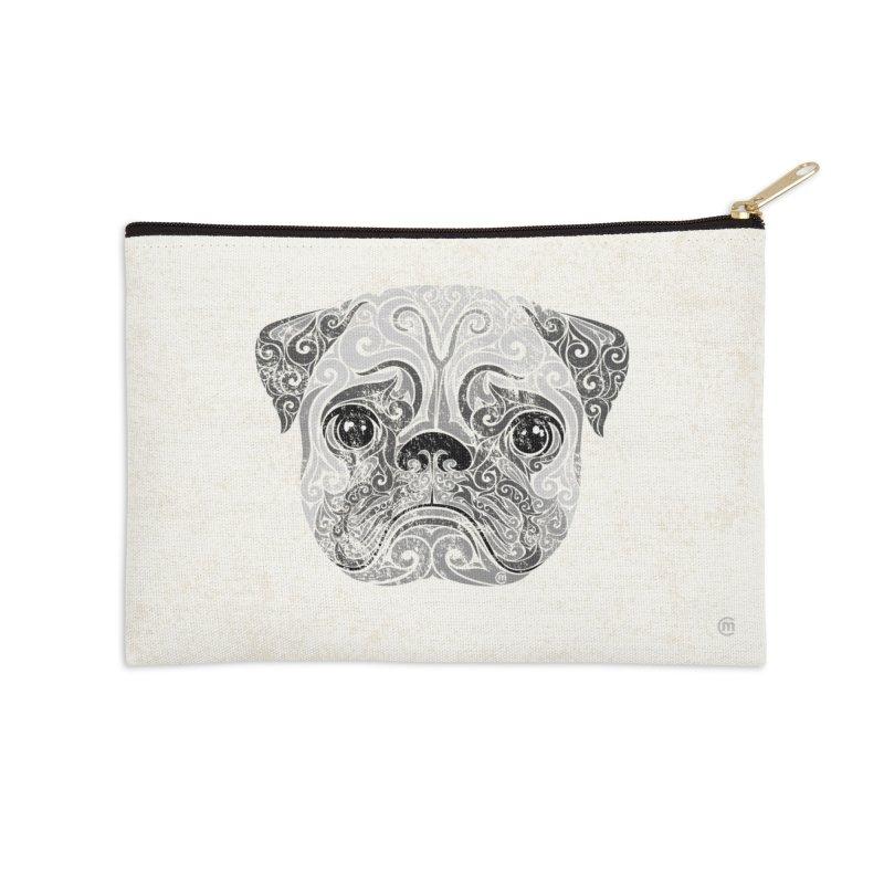 Swirly Pug Accessories Zip Pouch by VectorInk's Artist Shop