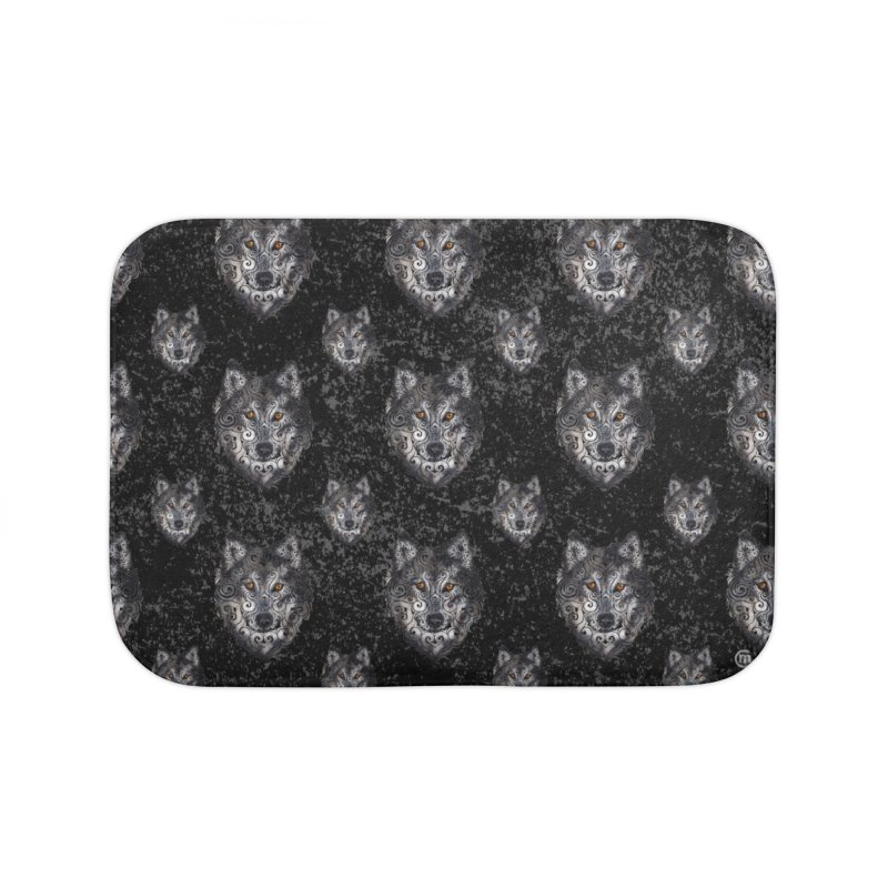 Swirly Wolf Home Bath Mat by VectorInk's Artist Shop