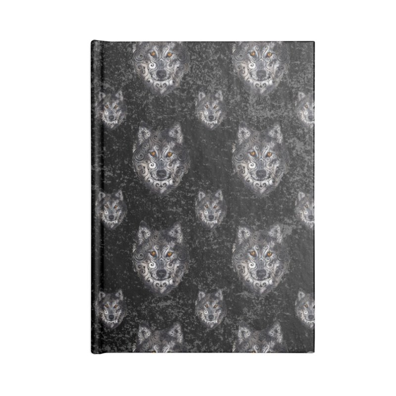 Swirly Wolf Accessories Notebook by VectorInk's Artist Shop