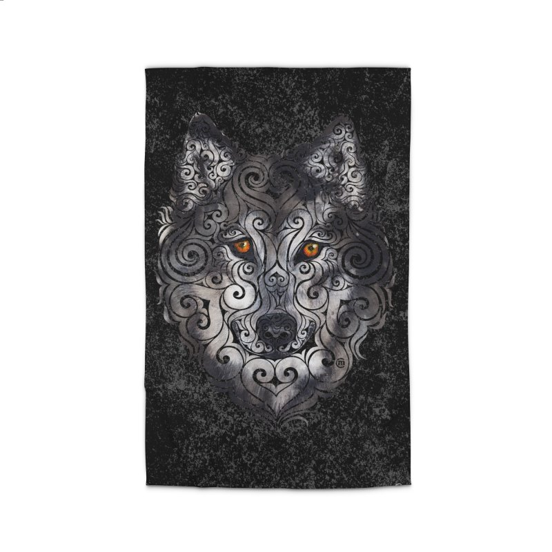 Swirly Wolf Home Rug by VectorInk's Artist Shop