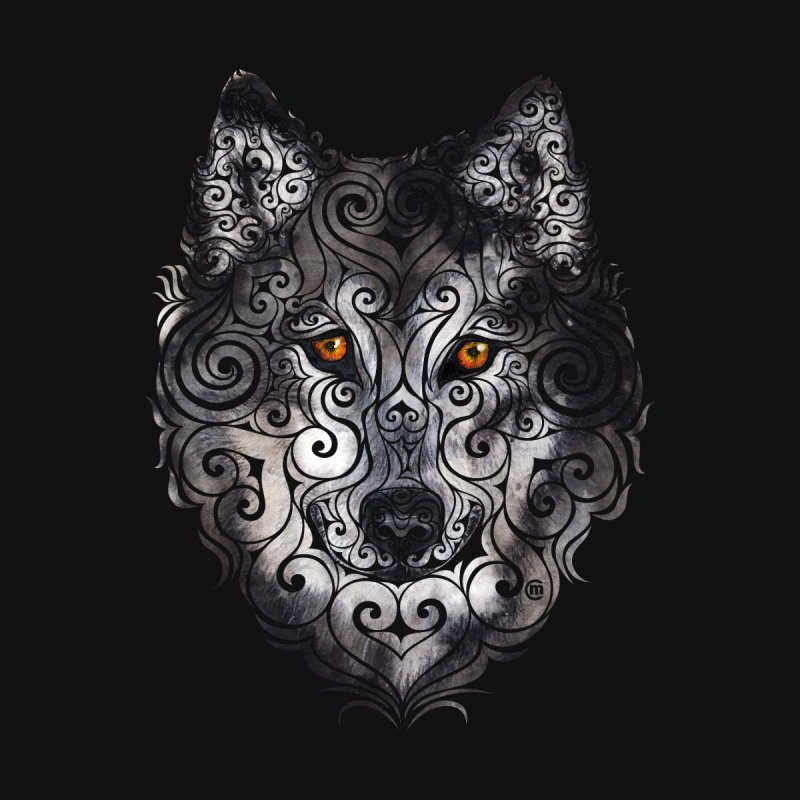 Swirly Wolf None  by VectorInk's Artist Shop