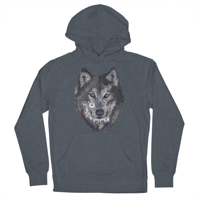 Swirly Wolf Women's Pullover Hoody by VectorInk's Artist Shop