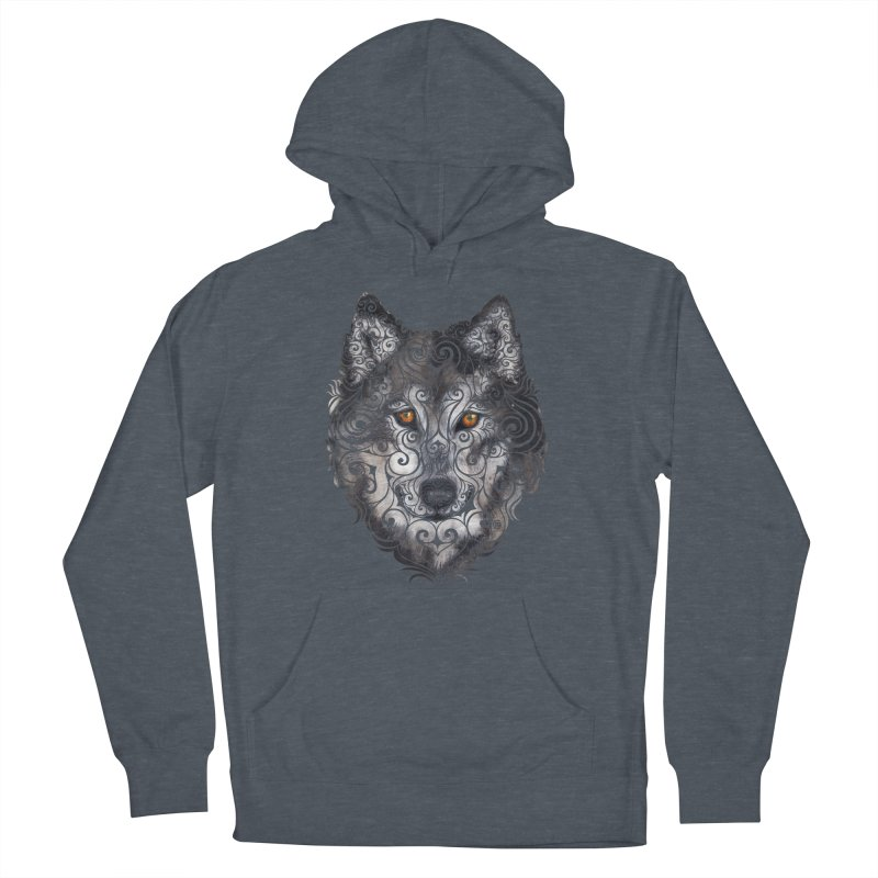 Swirly Wolf Men's Pullover Hoody by VectorInk's Artist Shop