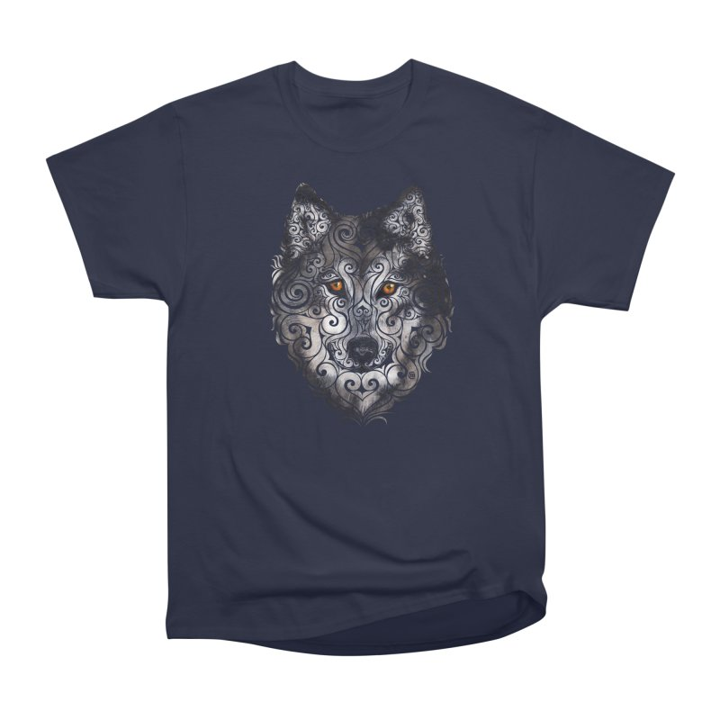 Swirly Wolf Women's Classic Unisex T-Shirt by VectorInk's Artist Shop
