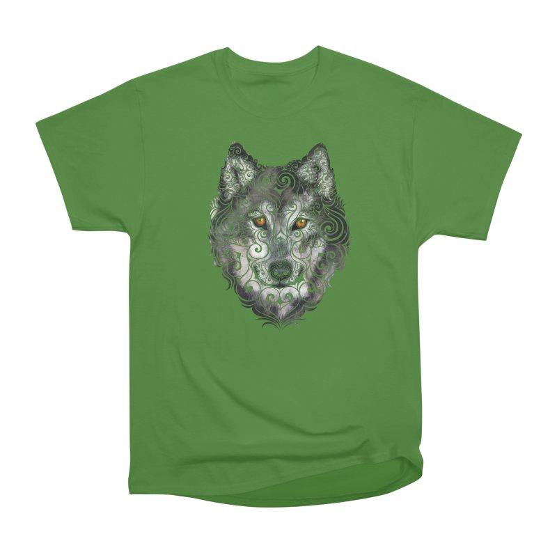 Swirly Wolf Men's Classic T-Shirt by VectorInk's Artist Shop