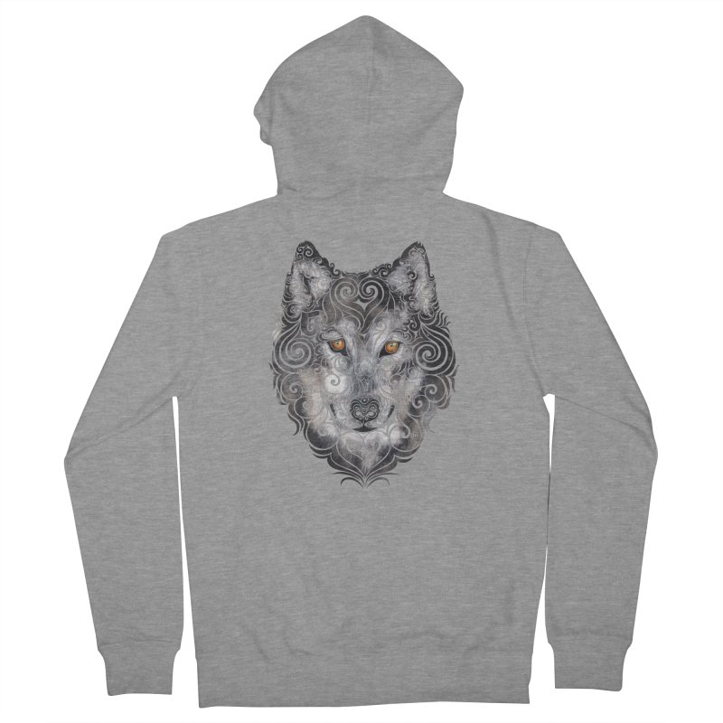 Swirly Wolf Women's Zip-Up Hoody by VectorInk's Artist Shop