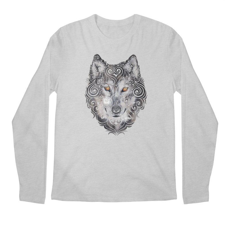 Swirly Wolf Men's Longsleeve T-Shirt by VectorInk's Artist Shop