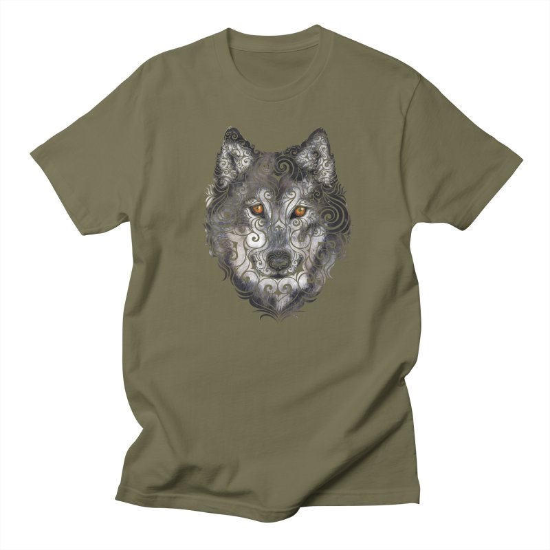 Swirly Wolf Women's Unisex T-Shirt by VectorInk's Artist Shop