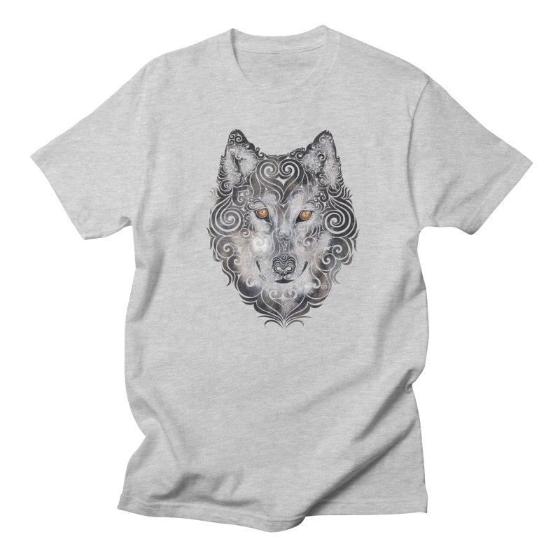 Swirly Wolf Men's T-Shirt by VectorInk's Artist Shop