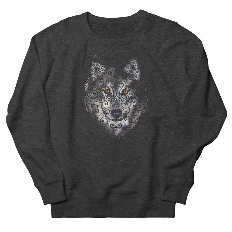 Swirly Wolf Women's Sweatshirt by VectorInk's Artist Shop