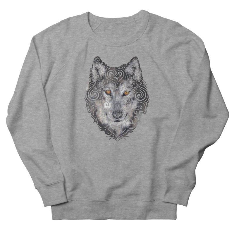 Swirly Wolf Women's French Terry Sweatshirt by VectorInk's Artist Shop