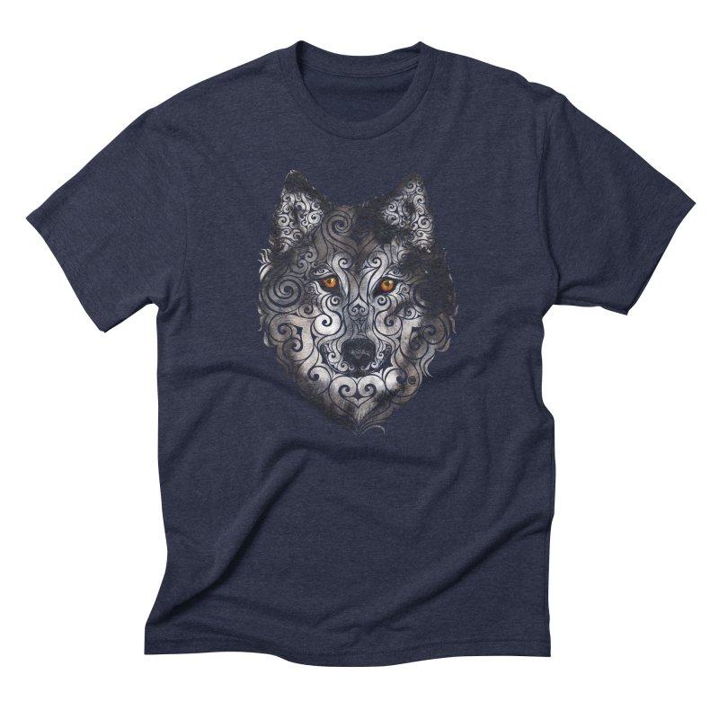 Swirly Wolf Men's Triblend T-Shirt by VectorInk's Artist Shop