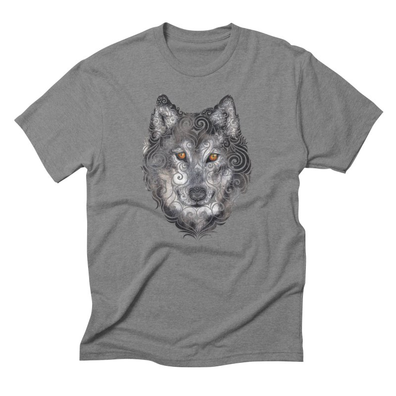 Swirly Wolf Men's Triblend T-shirt by VectorInk's Artist Shop