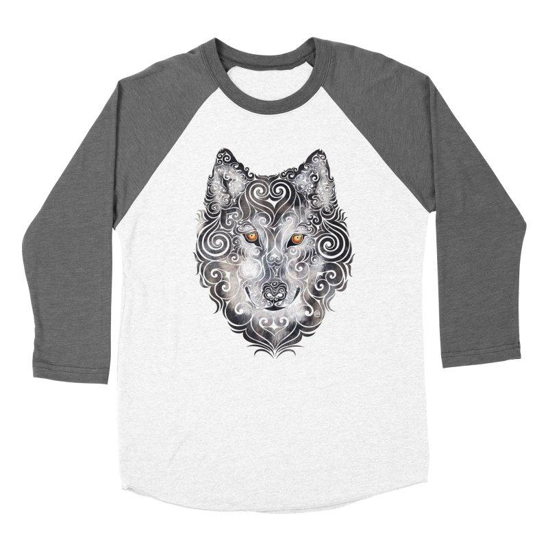Swirly Wolf Women's Baseball Triblend T-Shirt by VectorInk's Artist Shop