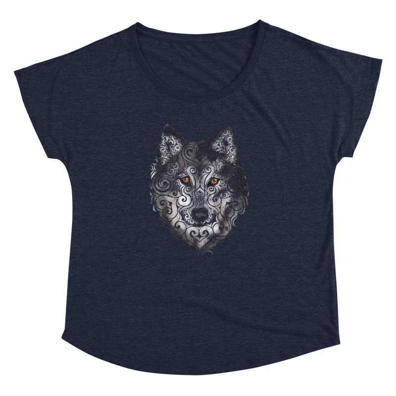 Swirly Wolf Women's Dolman by VectorInk's Artist Shop