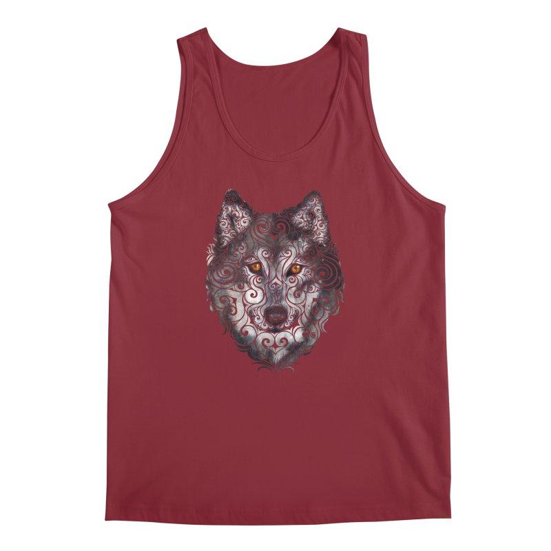 Swirly Wolf Men's Regular Tank by VectorInk's Artist Shop