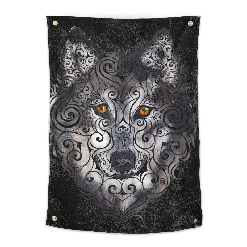 Swirly Wolf in Tapestry by VectorInk's Artist Shop