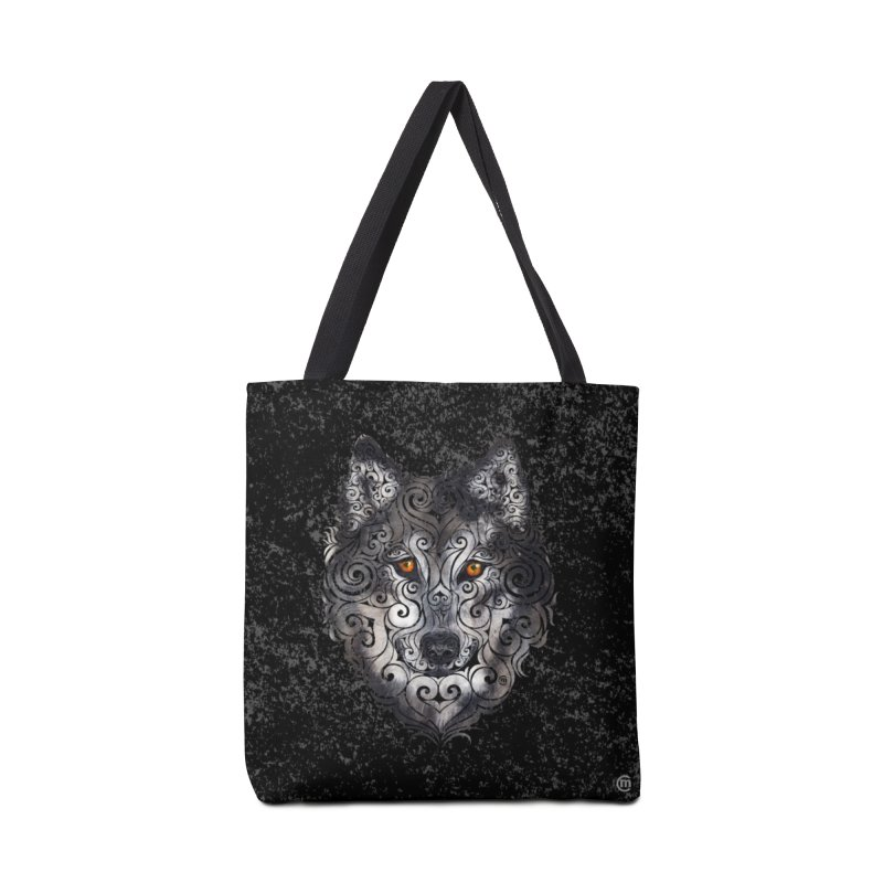 Swirly Wolf Accessories Bag by VectorInk's Artist Shop