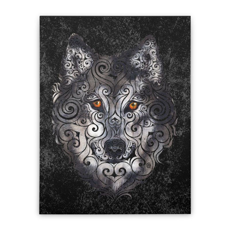 Swirly Wolf Home Stretched Canvas by VectorInk's Artist Shop