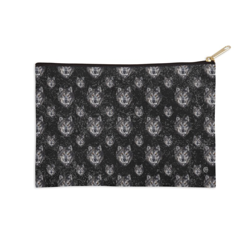 Swirly Wolf Accessories Zip Pouch by VectorInk's Artist Shop