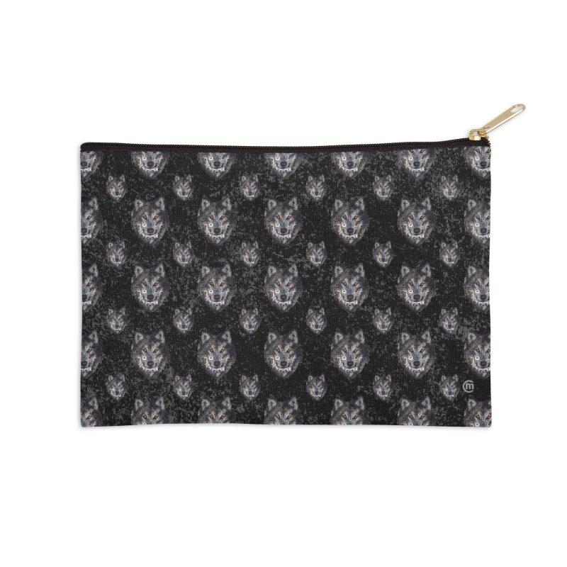 Swirly Wolf Accessories Zip Pouch by VectorInk's Artist Shop