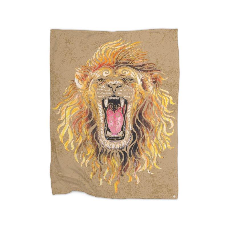 Swirly Lion Home Blanket by VectorInk's Artist Shop