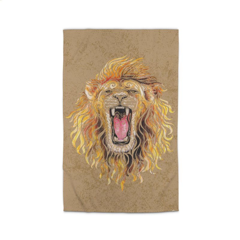 Swirly Lion Home Rug by VectorInk's Artist Shop