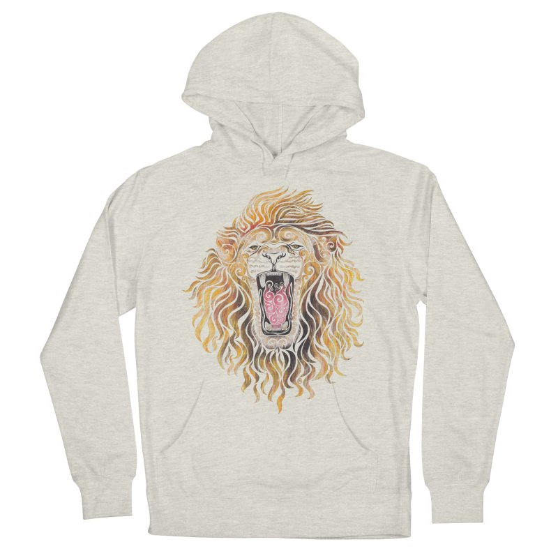Swirly Lion Men's Pullover Hoody by VectorInk's Artist Shop