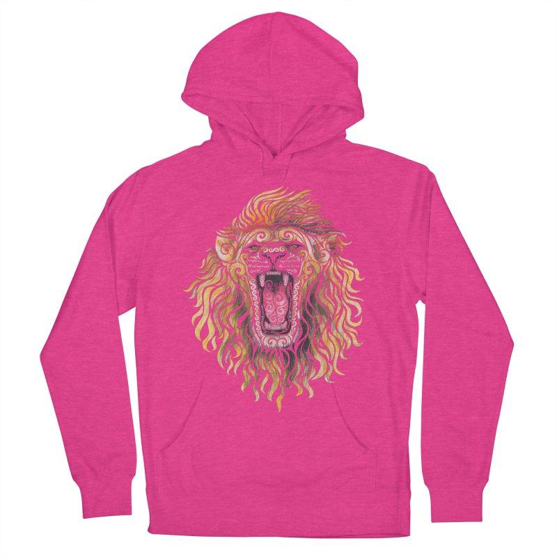 Swirly Lion Men's Pullover Hoody by VectorInk's Artist Shop