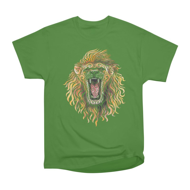 Swirly Lion Men's Classic T-Shirt by VectorInk's Artist Shop