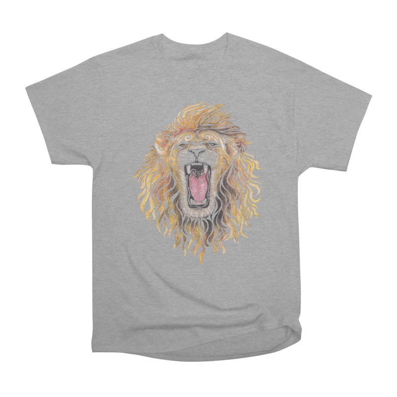 Swirly Lion Women's Heavyweight Unisex T-Shirt by VectorInk's Artist Shop
