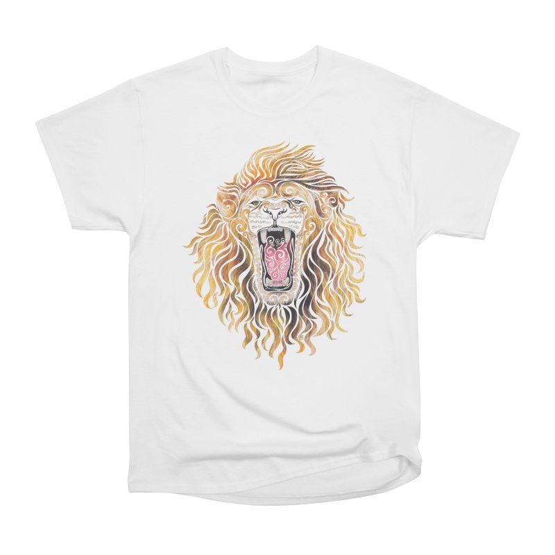 Swirly Lion Women's Classic Unisex T-Shirt by VectorInk's Artist Shop