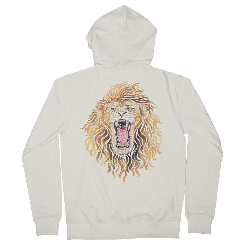 Swirly Lion Men's Zip-Up Hoody by VectorInk's Artist Shop