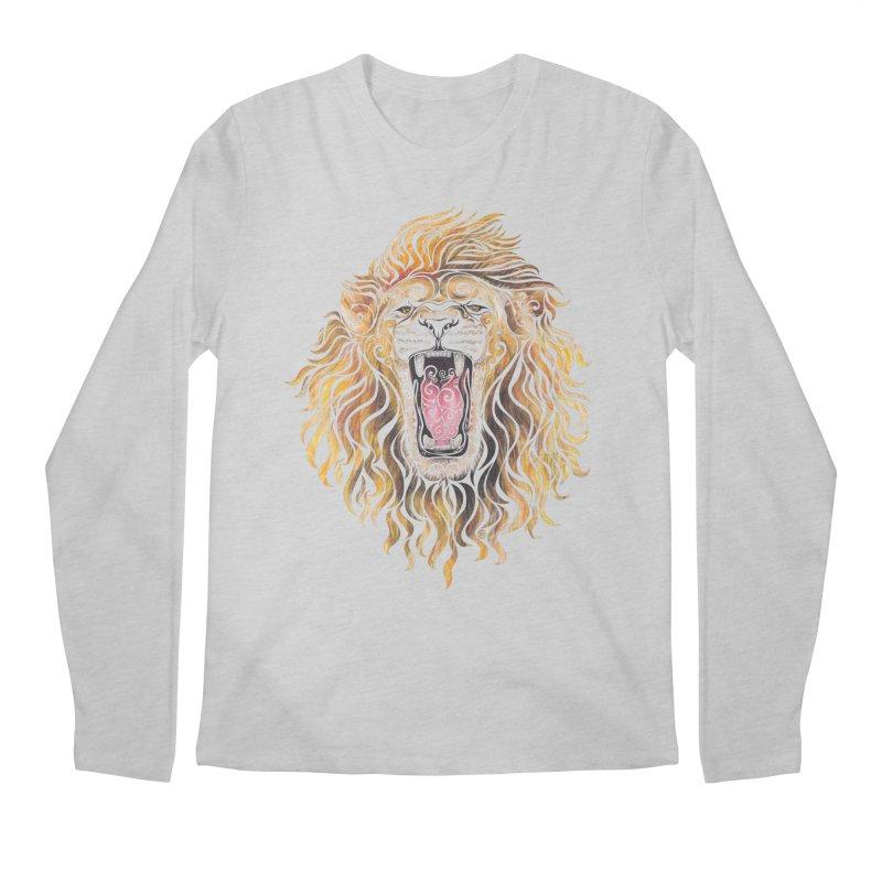 Swirly Lion Men's Longsleeve T-Shirt by VectorInk's Artist Shop
