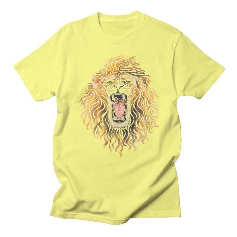 Swirly Lion Women's Unisex T-Shirt by VectorInk's Artist Shop