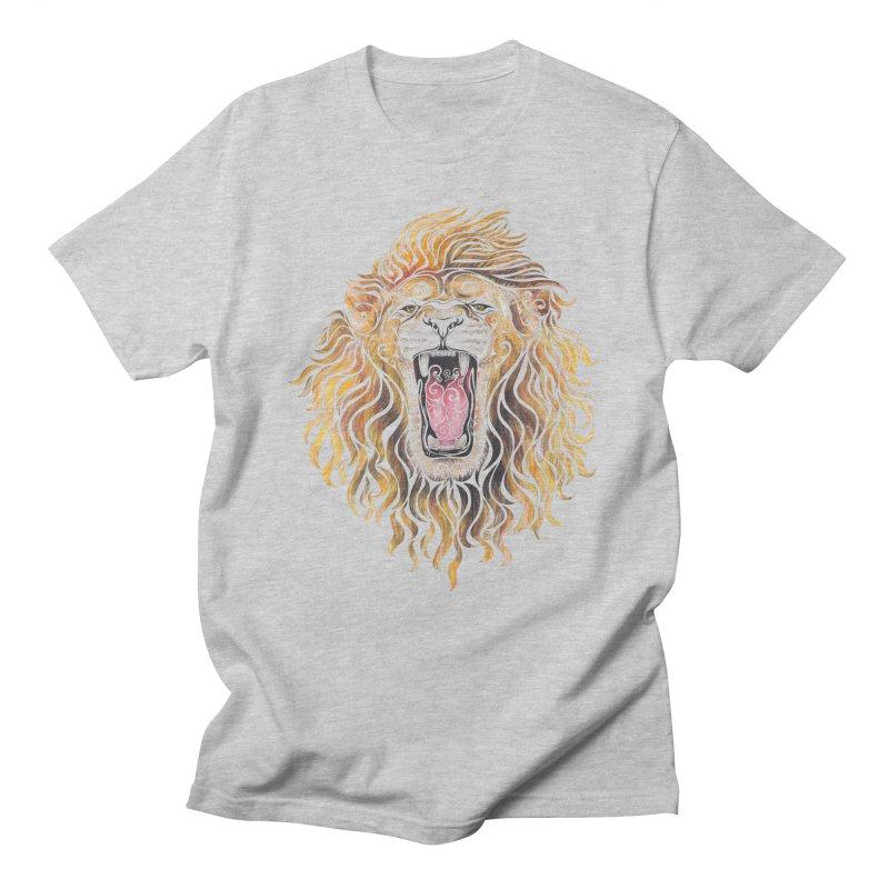 Swirly Lion Men's T-shirt by VectorInk's Artist Shop