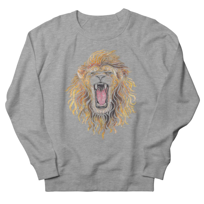 Swirly Lion Men's French Terry Sweatshirt by VectorInk's Artist Shop