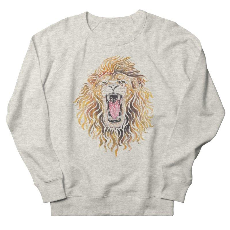 Swirly Lion Men's Sweatshirt by VectorInk's Artist Shop