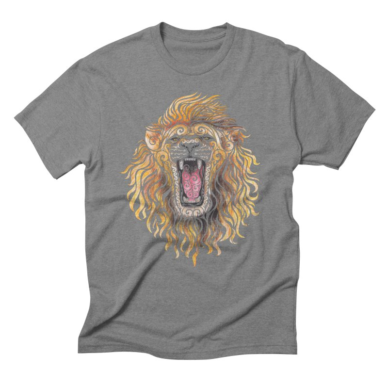 Swirly Lion Men's Triblend T-shirt by VectorInk's Artist Shop