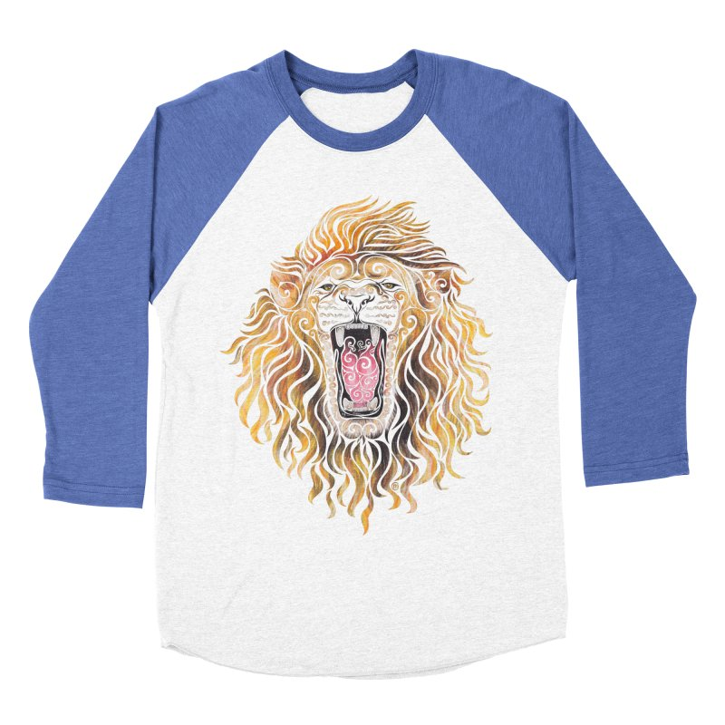 Swirly Lion Men's Baseball Triblend Longsleeve T-Shirt by VectorInk's Artist Shop
