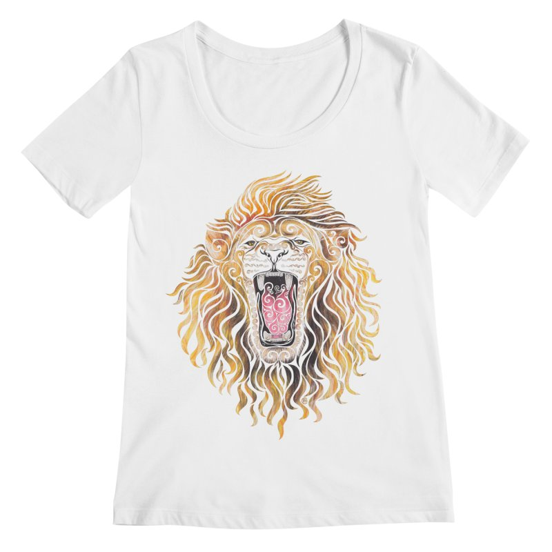 Swirly Lion Women's Regular Scoop Neck by VectorInk's Artist Shop